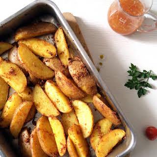 Potato Wedges & Sweet Chili Sauce.