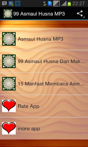 Download 99 Asmaul Husna mp3 by pratomo app APK latest