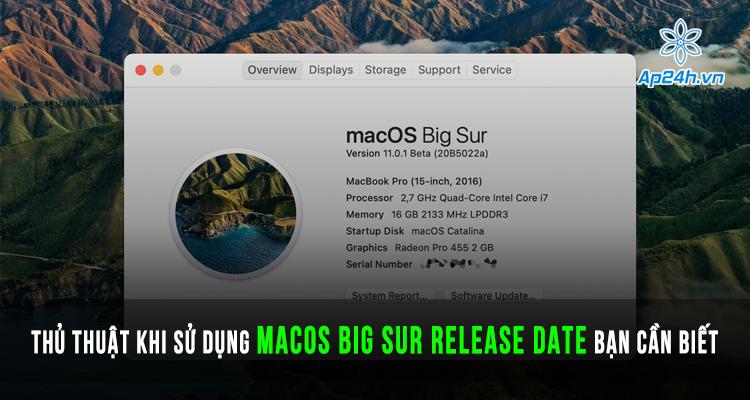 macOS Big Sur release date