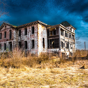 Poor Farm by Darrin Ralph - Buildings & Architecture Decaying & Abandoned ( farm, blue, house, decay, abandoned )