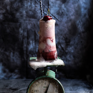 Hibiscus Cherry and Ginger Beer Ice Cream Floats.
