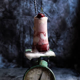 Hibiscus Cherry and Ginger Beer Ice Cream Floats..