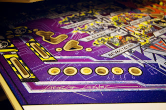 Photo: Special edition Transformers playfield signed by George Gomez