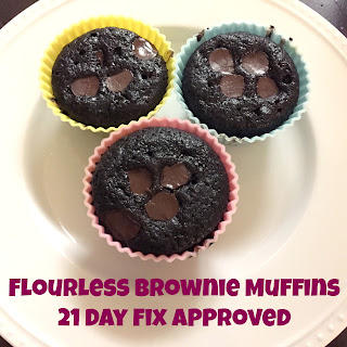 Flourless Brownie Muffins – 21 Day Fix Approved