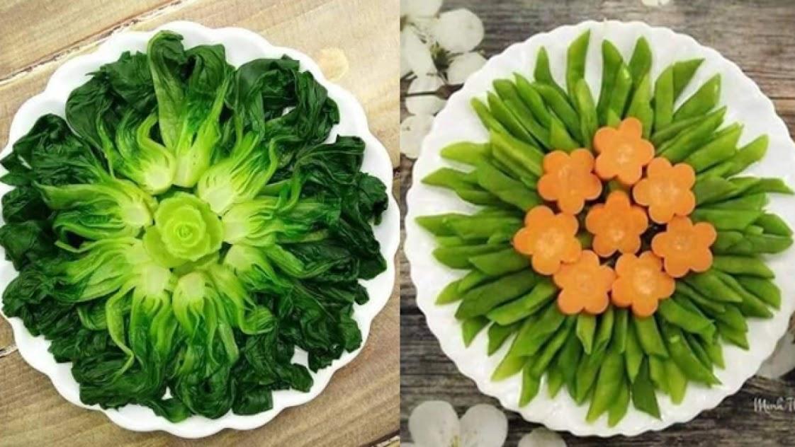 Mẹ đảm chia sẻ 21 cách bày đĩa rau củ luộc đơn giản nhưng đẹp mê mẩn