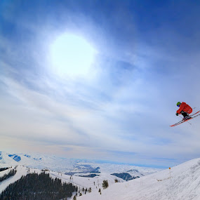 Skiing in Sun Valley Idaho by Tory Taglio - Sports & Fitness Snow Sports ( baldy, ski resort, powder, ketchum, sun valley, skier )