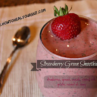 Strawberry Green Smoothie.