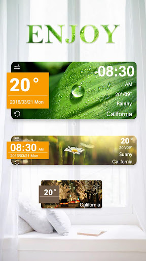 Enjoy GO Weather Widget Theme