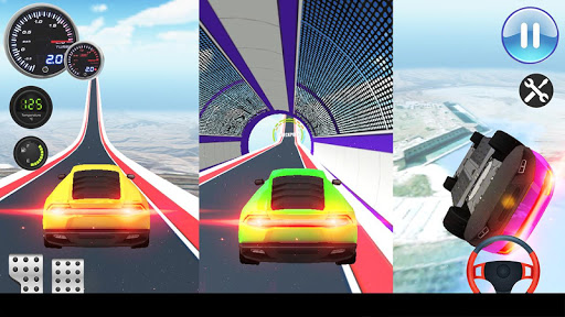 Speed Car Racing Stunts- Impossible Tracks screenshot 4