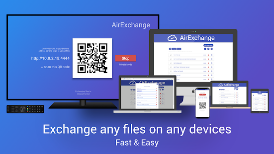 AirExchange - Exchange files on Mobile, PC & Tivi Mod