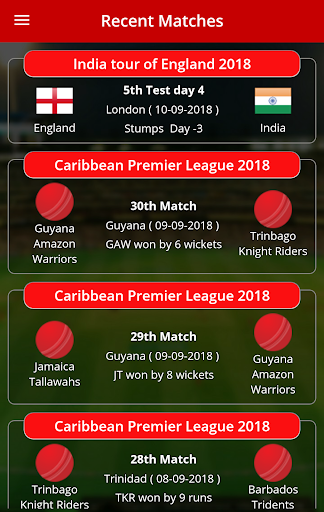 Live Cricket Scores & Updates -Total Cricinfo  screenshots 2