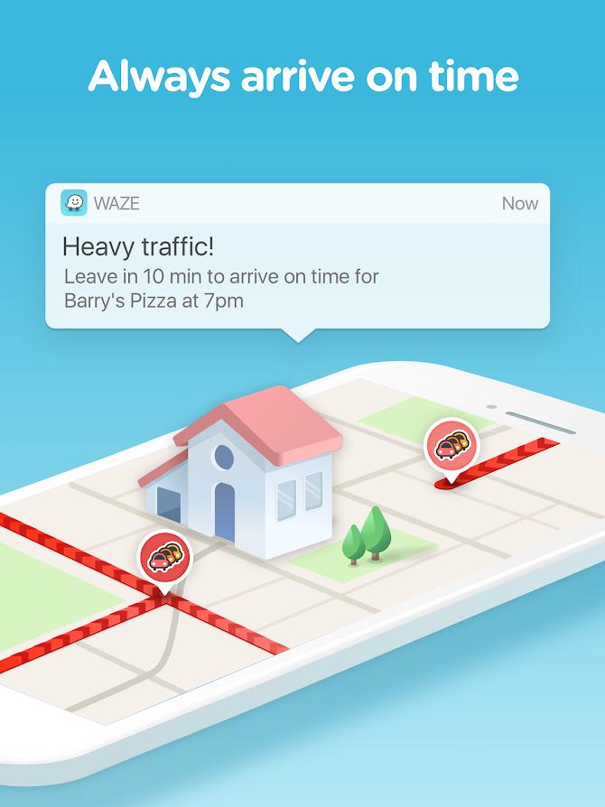 Waze - GPS, Maps, Traffic Alerts & Live Navigation Android 8