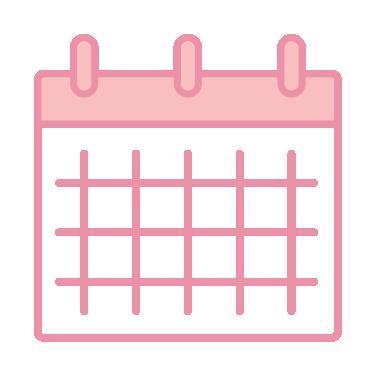 Blush colored calendar icon