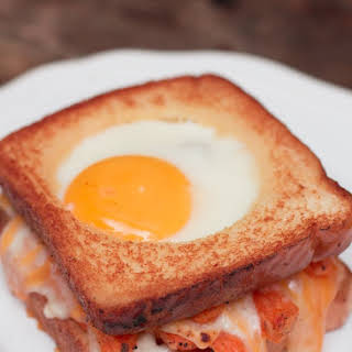 Grilled Cheese & Sweet Potato Breakfast Sandwich.