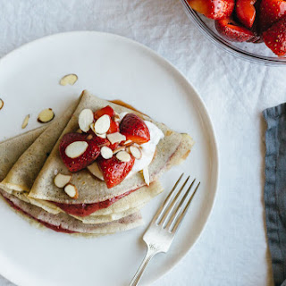 Vanilla Bean Cassava Crepes with Strawberry Chia Jam Recipe