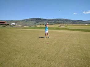 Photo: Janet at Gamble Sands 1st Tee