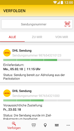 DHL Paket screenshot 2