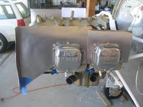"""Photo: #2 and #4 Cylinder head baffles are OK.  #4 baffle needs to be ~1/2-3/4"""" taller to hit cowling."""