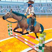 سباق الخيل والقفز المثيرة لعبة 3D APK