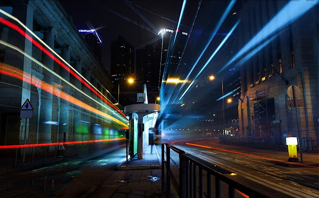 scie di luce in città di Marygio16