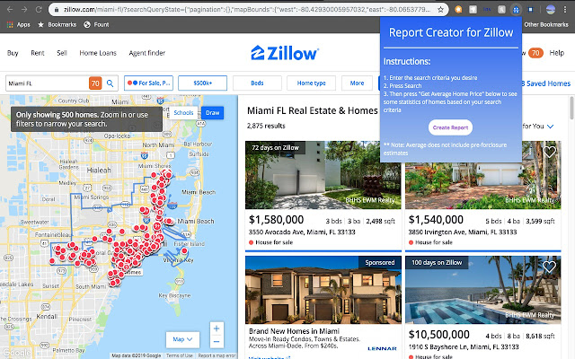 Report Creator for Zillow