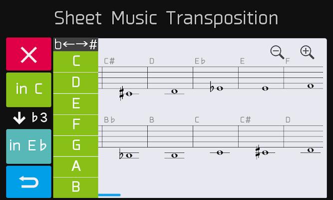 Sheet Music Transposition - screenshot