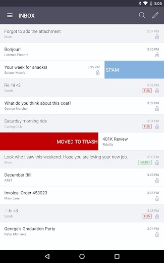 Screenshot 5 for ProtonMail's Android app'