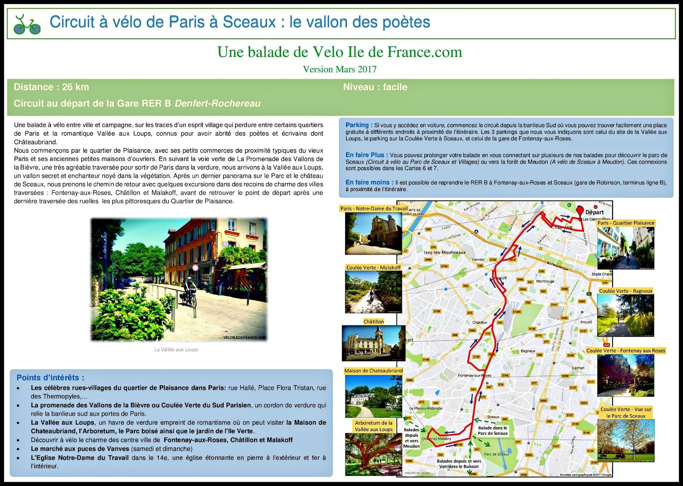 Couverture - Circuit à vélo entre Paris et Sceaux, le vallon des poètes par veloiledefrance.com