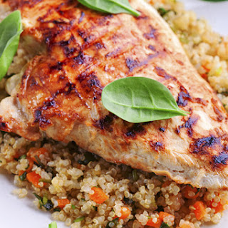 Curried Ginger Chicken Breast with Quinoa.