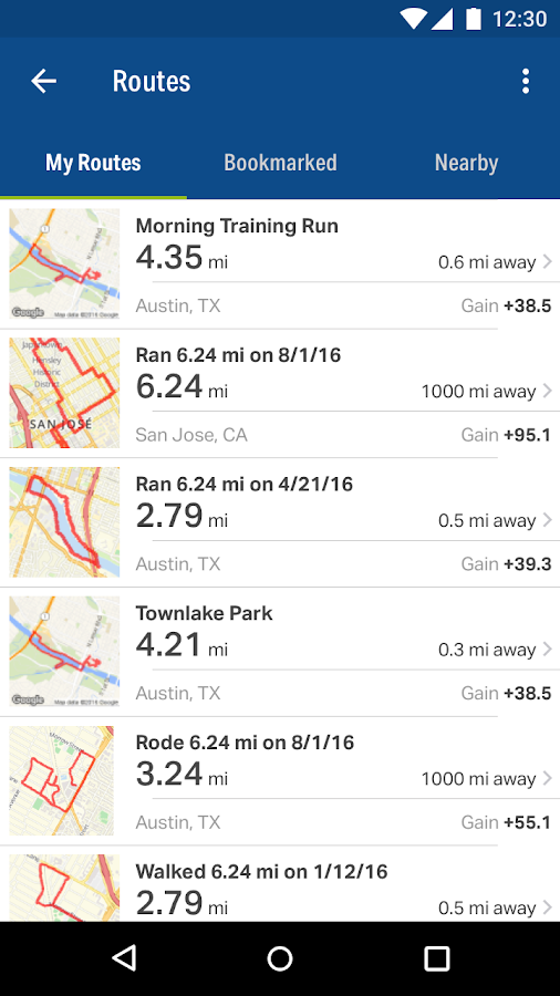 MapMyFitness+ Workout Trainer- screenshot