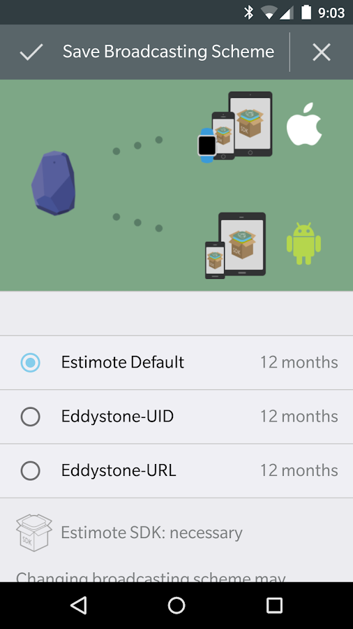 Estimote- screenshot