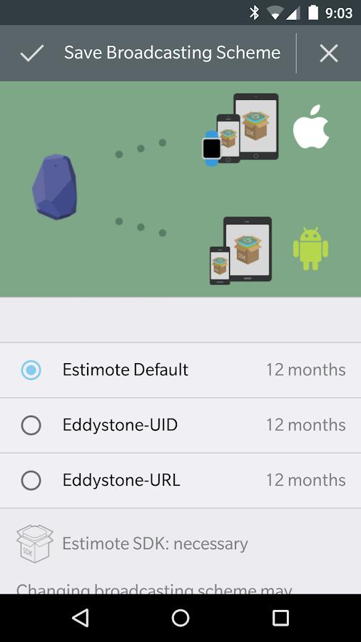 Estimote - screenshot