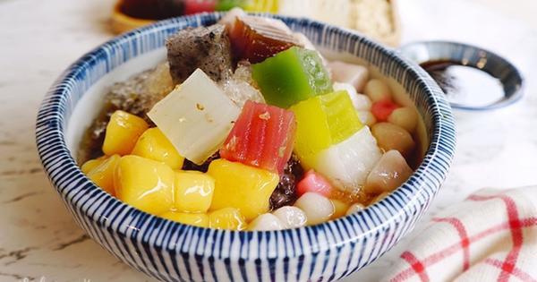 覓糖『黑糖粉粿』,繽紛七彩粉粿黑糖冰。南京復興冰品甜品湯圓