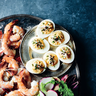 Deviled Eggs with Crab and Caviar