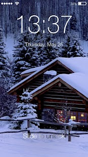 Winter Humor Snow PIN Lock Screen - náhled