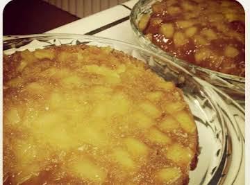 Caramel Pineapple Upside-Down Cake