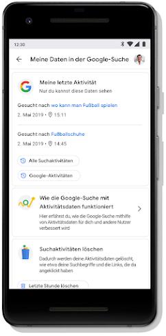 Bildschirm mit dem Privatsphärecheck im Google-Konto