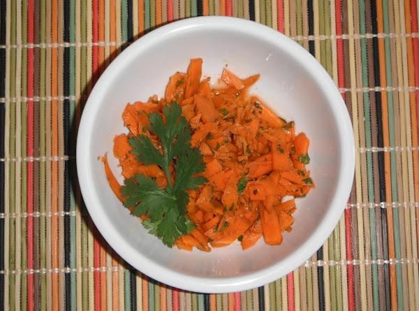 Carrot-ginger-cilantro Salad Recipe