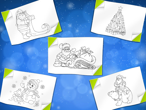 christmas coloring book santa game screenshot 9