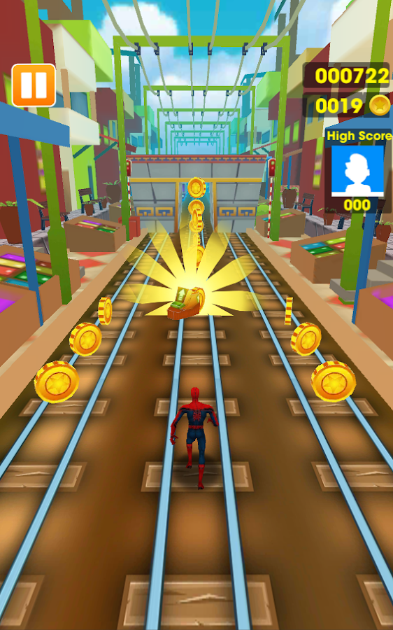 Subway Avengers Rush: Spiderman, Batman, Ironman- screenshot