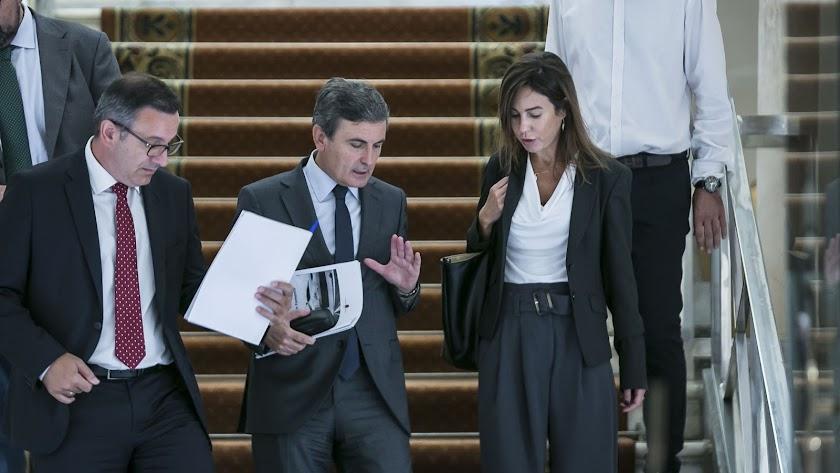 Isabel Pardo de Vera, a la derecha de la foto, en Murcia el pasado jueves.