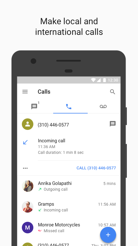 Google Voice- screenshot