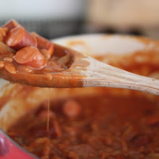 Kicked Up Franks & Beans – Best recipe ever!