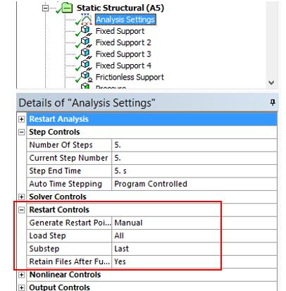 ANSYS Для их сохранения пользователь должен изменить настройки расчёта (Analysis Settings)