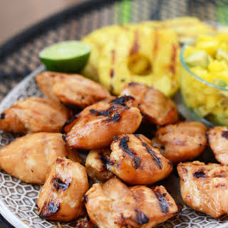 Tropical Teriyaki Chicken Breasts with Grilled Pineapple.
