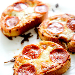 Texas Toast Garlic Bread Pizza.