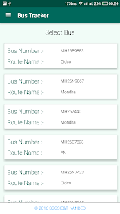 SGGS Bus Tracker - náhled