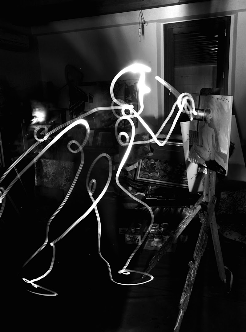 Light-Painting, Picasso (1949). di jaycassady