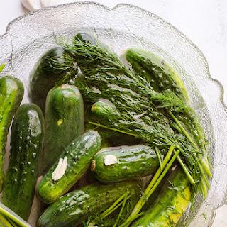 Two Day Ukrainian Garlic Dill Pickles.