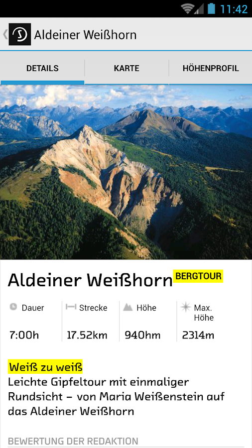 sentres South Tyrol - touring portal- screenshot